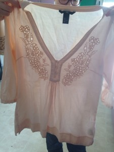 Peach cotton tunic